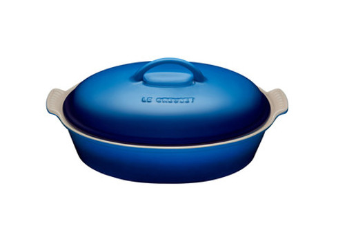 Le Creuset - 3.8 L Blueberry Oval Casserole With Lid