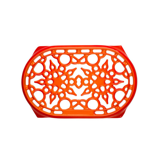 "Le Creuset - 9.5"" (27 cm) Flame Deluxe Oval Trivet"