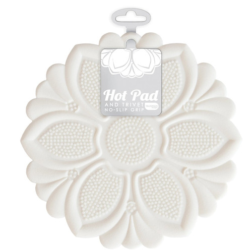 Talisman Designs - White Lily Hot Pad and Trivet