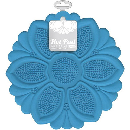 Talisman Designs - Blue Lily Hot Pad and Trivet