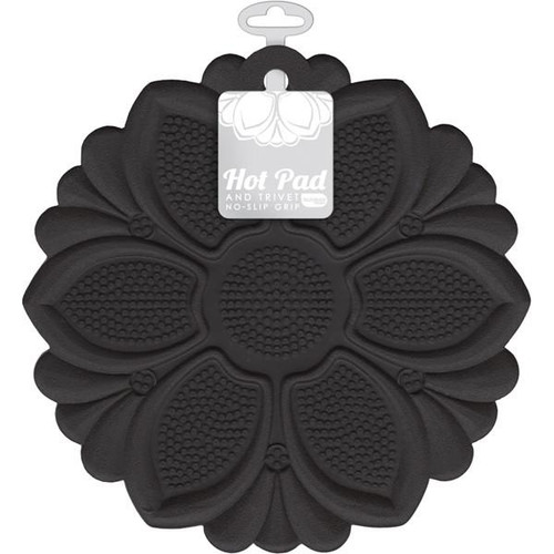 Talisman Designs - Black Lily Hot Pad and Trivet