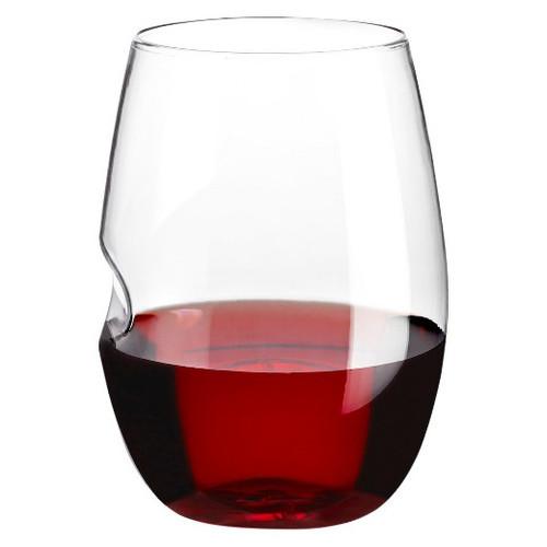 GoVino - 16 Oz Shatterproof Stemless Wine Glass (Single Glass)