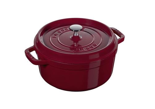 Staub - 6.75 L (7 QT) Bordeaux Red Round Cocotte