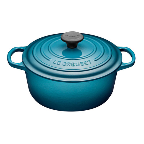 Le Creuset - 4.2 L (4.5 QT) Teal French Round Dutch Oven
