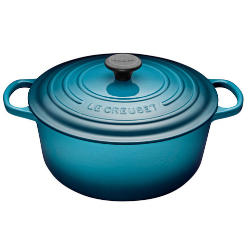 Le Creuset - 6.7 L (7.25 QT) Teal French Round Dutch Oven