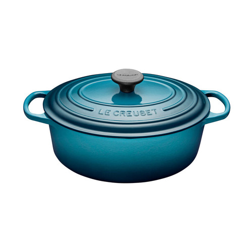 Le Creuset - 4.7 L (5 QT) Teal French Oval Dutch Oven
