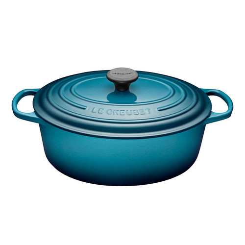 Le Creuset - 6.3 L (6.75 QT) Teal French Oval Dutch Oven