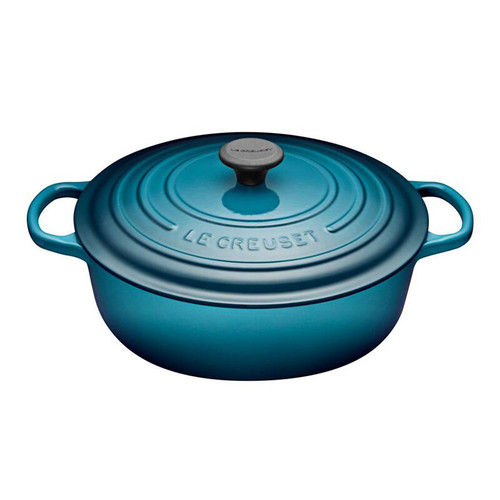 Le Creuset - 6.2 L (6.75 QT) Teal Shallow Round French Oven