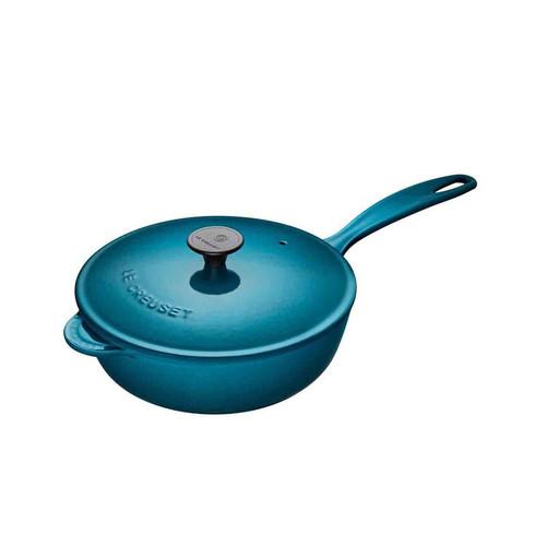 Le Creuset - 2 L (2.25 QT) Teal Saucier Pan