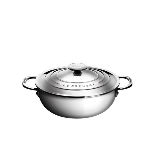 Le Creuset - 3.3 L (3.5 QT) Stainless Steel Risotto Pot