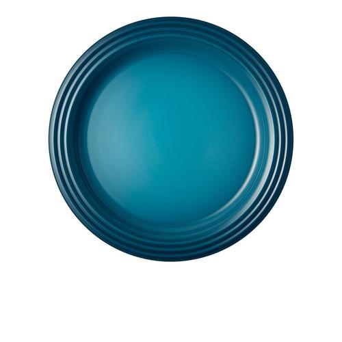"Le Creuset - 10.5"" (27 cm) Teal Dinner Plates - Set of 4"