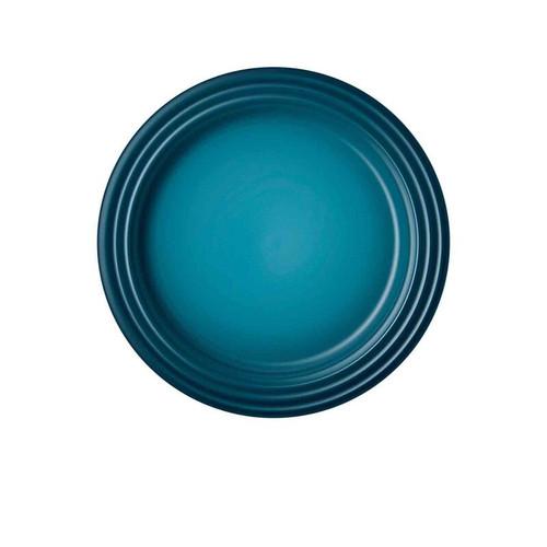 """Le Creuset - 9"""" (22cm) Teal Dessert/Salad Plates - Set of 4"""