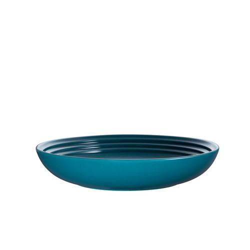 """Le Creuset - 9"""" (22cm) Teal Coupe Pasta Bowls - Set of 4"""