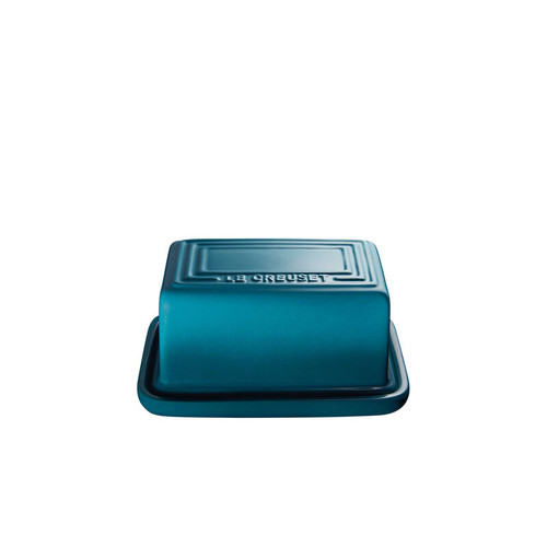 """Le Creuset - 7"""" (Holds 1Lb) Teal Butter Dish"""
