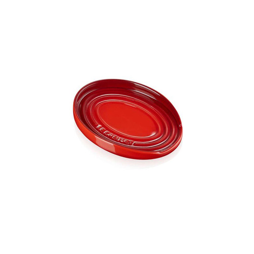 "Le Creuset - 6"" (16cm) Cherry Oval Spoon Rest"