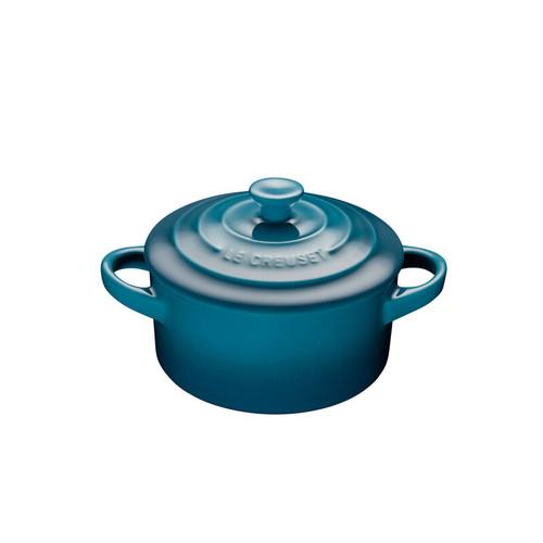 Le Creuset - .24 L (0.25 QT) Teal Mini Round Cocotte