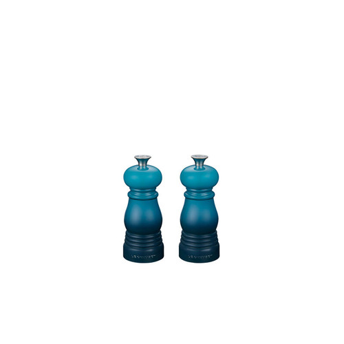 "Le Creuset - 4"" (11cm) Teal Salt & Pepper Mill - Set of 2"