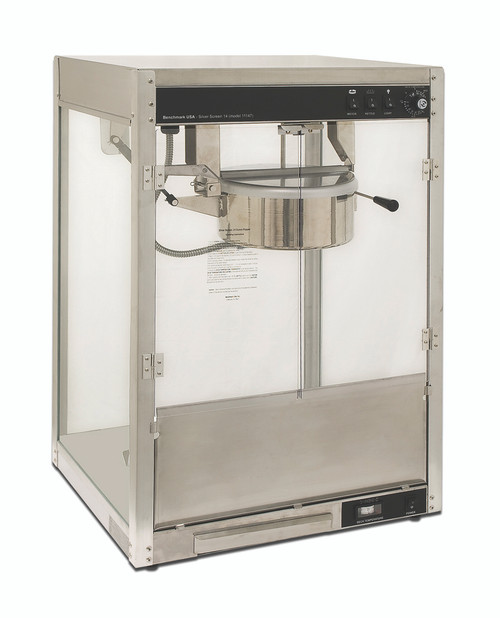Benchmark - 8 Oz Silver Screen Popcorn Machine 120V