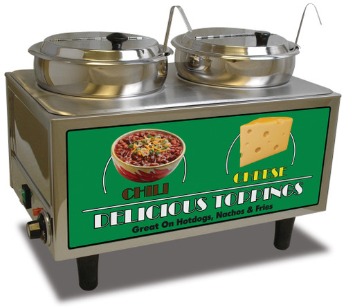Benchmark - Chili & Cheese Warmer - 2 Ladles & Lids 120v