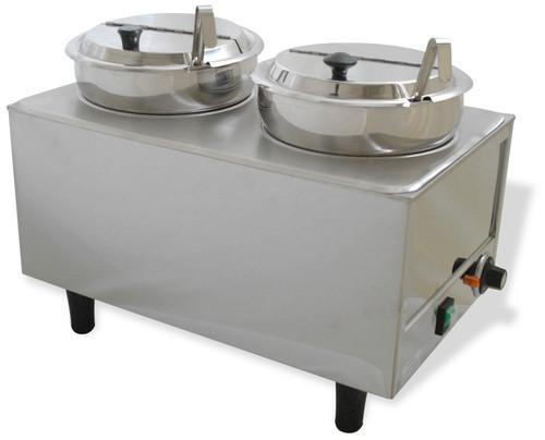Benchmark - Dual Well Food Warmer - 2 Ladles & Lids 120v