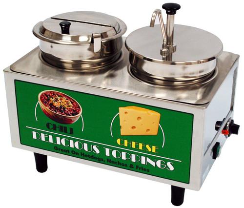 Benchmark - Chili & Cheese Warmer - 1 Pump 1 Ladle & Lid 120v