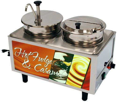 Benchmark - Hot Fudge / Caramel Warmer - 1 Pump 1 Ladle & Lid 120v