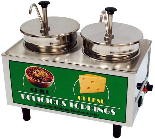 Benchmark - Chili & Cheese Warmer - 2 Pumps 120v