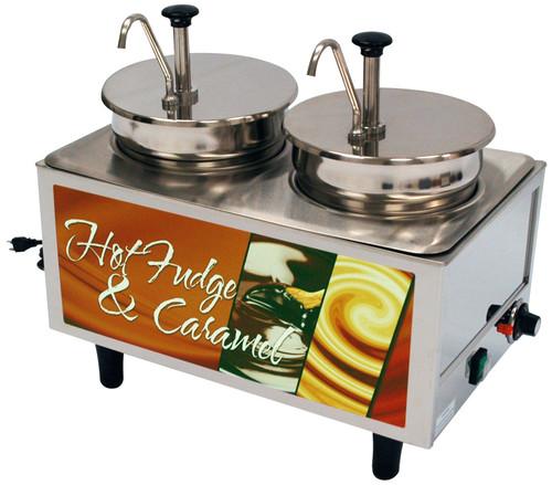 Benchmark - Hot Fudge / Caramel Warmer - 2 Pumps 120v