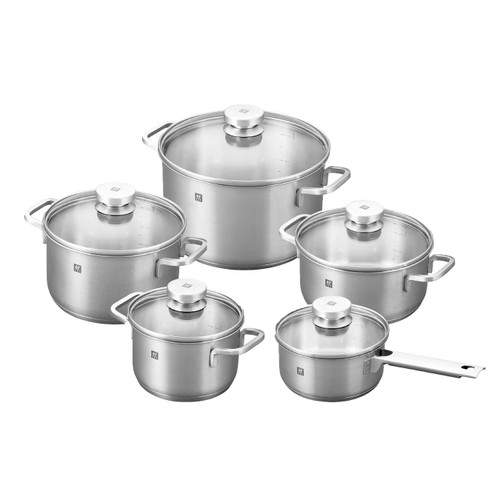 Zwilling J.A. Henckels - Focus 10 Pc Stainless Cookware Set