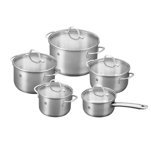 Zwilling J.A. Henckels - Flow 10 Pc Stainless Cookware Set