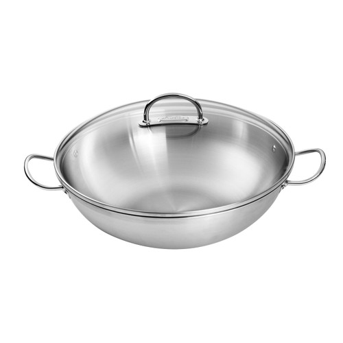 """Zwilling J.A. Henckels - Prime 14"""" (36cm) Stainless Wok with Lid"""