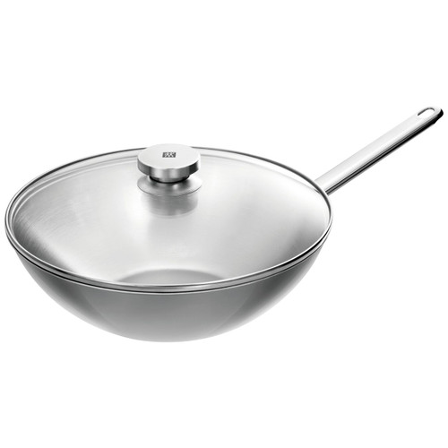 """Zwilling J.A. Henckels - Special Plus 12"""" (30cm) Stainless Wok with Lid"""