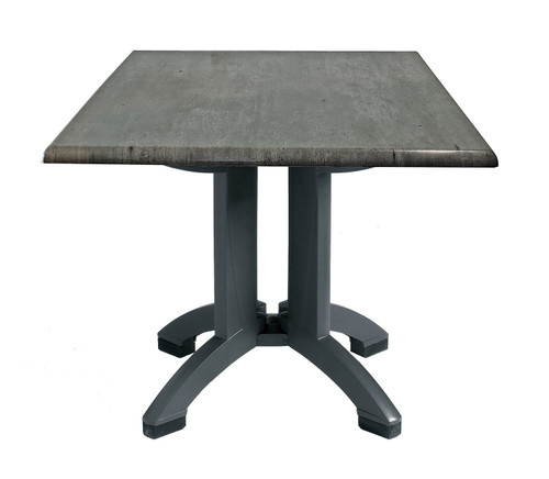 "Grosfillex - Atlanta 32"" x 32"" Granite Square Outdoor Table"