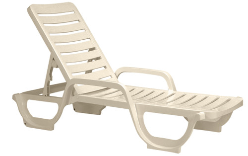 Grosfillex - Bahia Sandstone Stacking Chaise Lounge