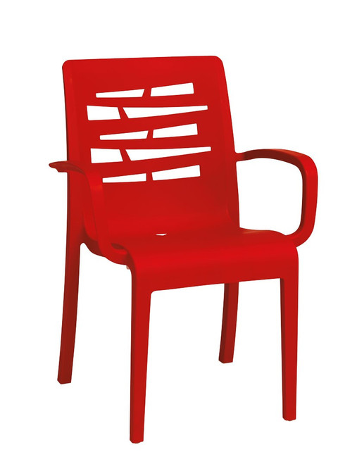 Grosfillex - Essenza Red Stacking Armchair
