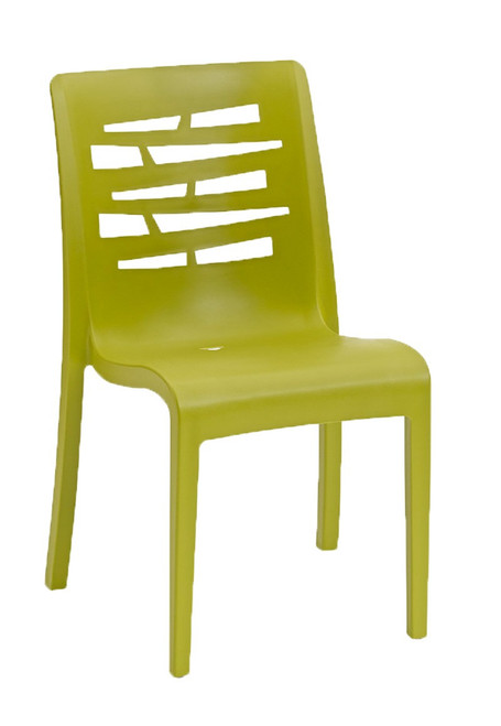 Grosfillex - Essenza Fern Green Stacking Chair