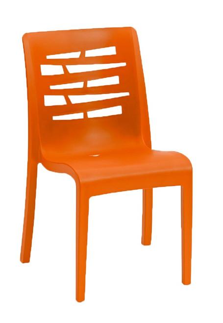 Grosfillex - Essenza Orange Stacking Chair