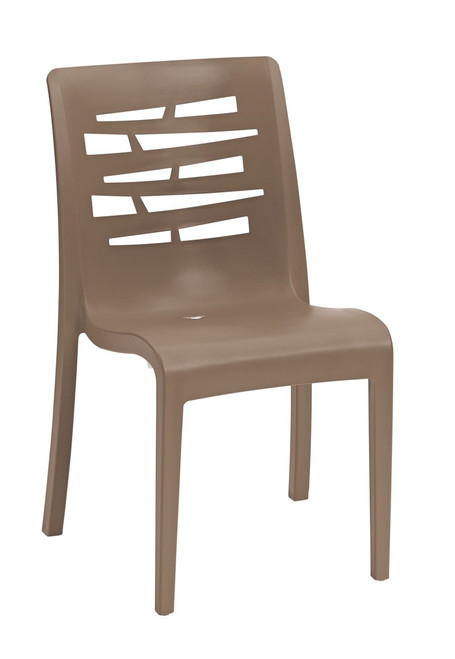 Grosfillex - Essenza Taupe Stacking Chair