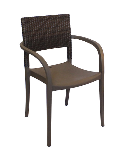 Grosfillex - Java Stacking Bronze Stacking Armchair