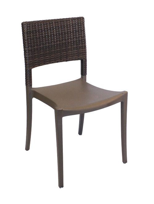 Grosfillex - Java Stacking Bronze Stacking Side Chair