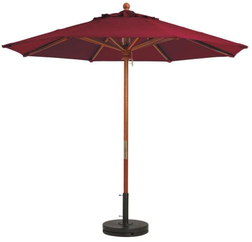 Grosfillex - Market Burgundy 7 Ft Round Umbrella
