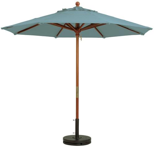 Grosfillex - Market Spa Blue 7 Ft Round Umbrella