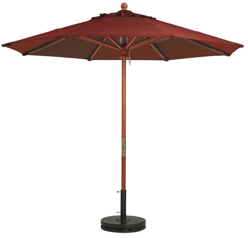 Grosfillex - Market Burgundy 9 Ft Round Umbrella