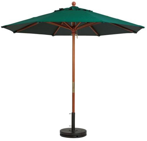 Grosfillex - Market Forest Green 9 Ft Round Umbrella
