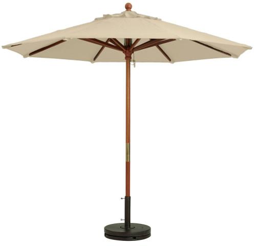 Grosfillex - Market Khaki 9 Ft Round Umbrella