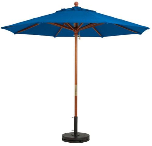 Grosfillex - Market Pacific Blue 9 Ft Round Umbrella
