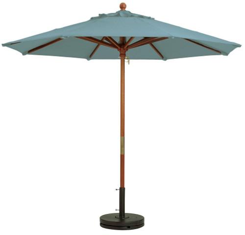 Grosfillex - Market Spa Blue 9 Ft Round Umbrella