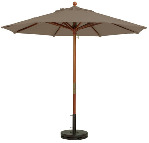 Grosfillex - Market Taupe 9 Ft Round Umbrella