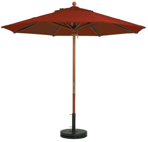 Grosfillex - Market Terra Cotta 9 Ft Round Umbrella