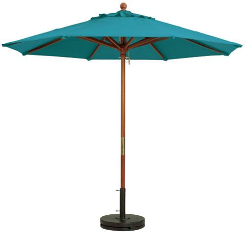 Grosfillex - Market Turqoise 9 Ft Round Umbrella